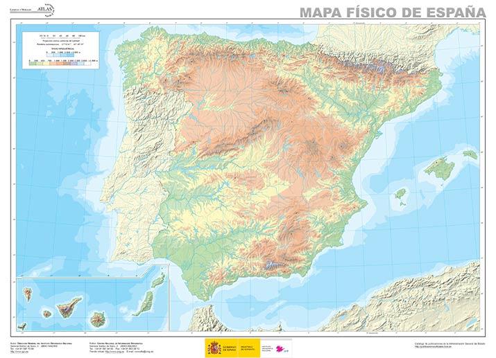 Mapa Fisico Y Politico Espana 2020 Mudo Y Normal En Pdf